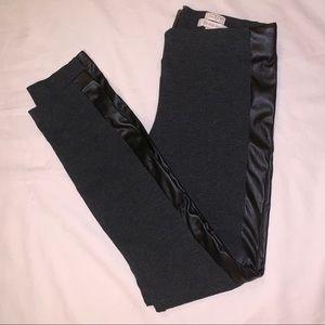 J.Crew Dark Gray The Gigi Pant With Leather Stripe